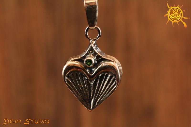 Czakra czwarta serca WISIOR srebro - miłość, branie i dawanie uczuć
