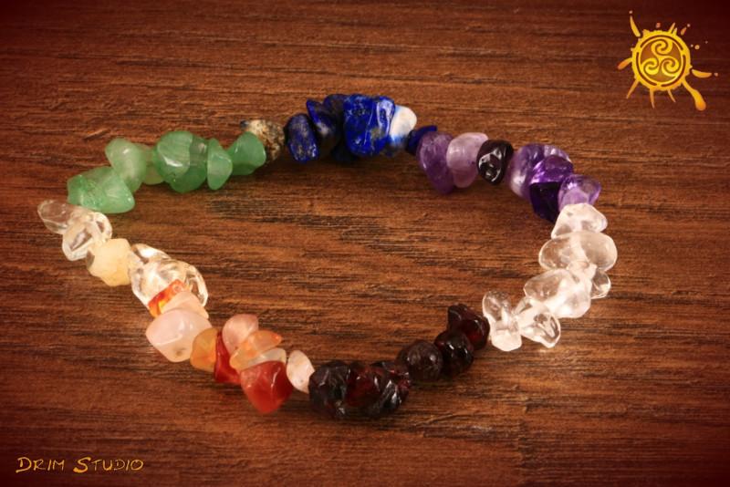 Bransoletka CZAKRY wzór A wąska kamień naturalny - ochrona, harmonia, zdrowie, równowaga energetyczna