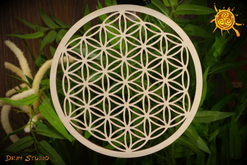 Kwiat Życia Drzewo Życia DREWNO śr. 14cm -  zdrowie, równowaga, cykl życia