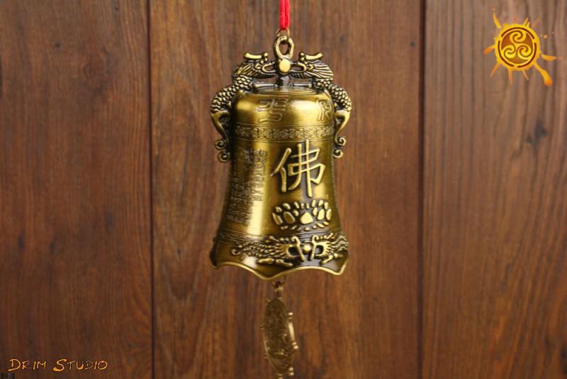 Dzwonek z symbolem BUDDY Feng Shui - oczyszczenie, pozytywna energia w pomieszczeniu