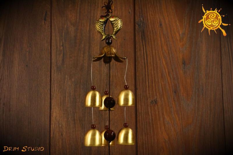 Dzwonek z symbolem RYB Feng Shui - oczyszczenie, pozytywna energia w pomieszczeniu