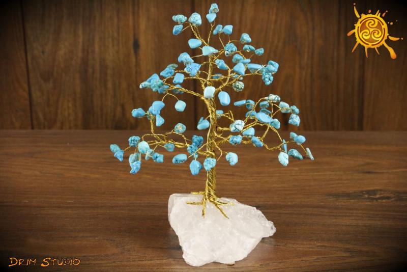 Drzewko szczęścia Turkmenit 100 kamieni naturalnych - twórczość, kreatywność, komunikacja, równowaga, spokój