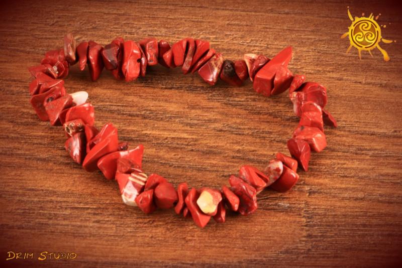 Jaspis Czerwony bransoletka wąska - niezależność, ochrona, stabilność, wzmocnienie czakry pierwszej