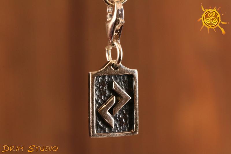 Runa JERA przywieszka charms srebro - zgoda z rytmem, zdolności twórcze, urodzaj