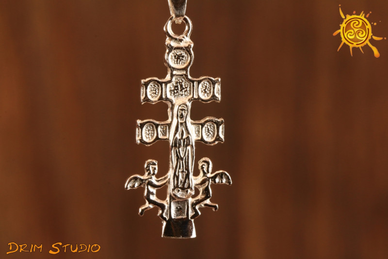 Krzyż z Caravaca 3 cm - ochrona, egzorcyzmy