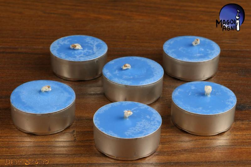 Niebieska Świeca Tealight WOSK SOJOWY - zapach naturalny