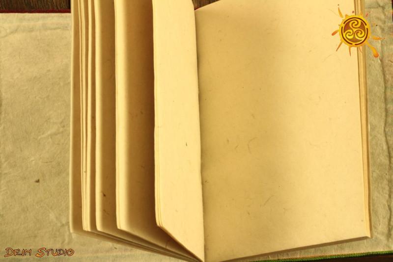 Notes Notatnik Zeszyt SŁOŃCE papier czerpany  - do zapisywania magicznych zaklęć, receptur, rytuałów, afirmacji