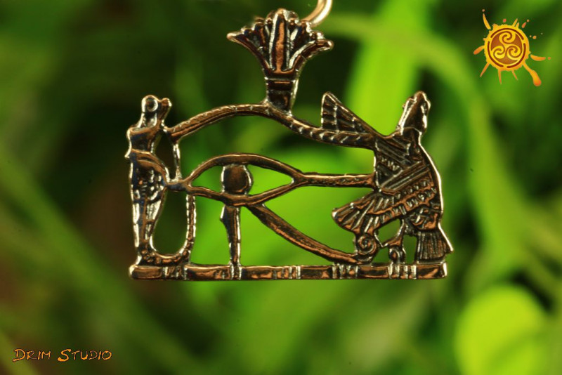 Oko Horusa wisior srebro - ochrona, mobilizacja do aktywności