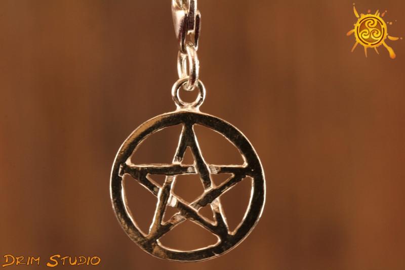 Pentagram przywieszka charms - tarcza ochronna przed złorzeczeniem i zazdrością
