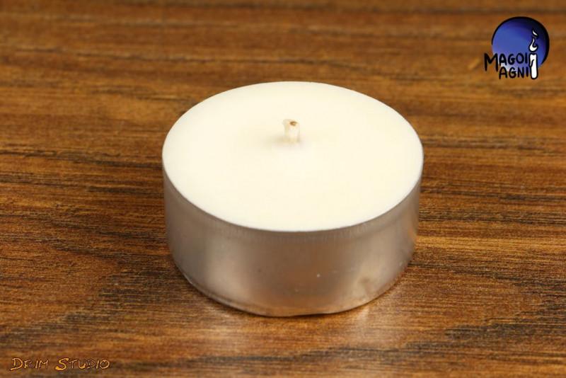 Biała Świeca Tealight WOSK SOJOWY - zapach naturalny