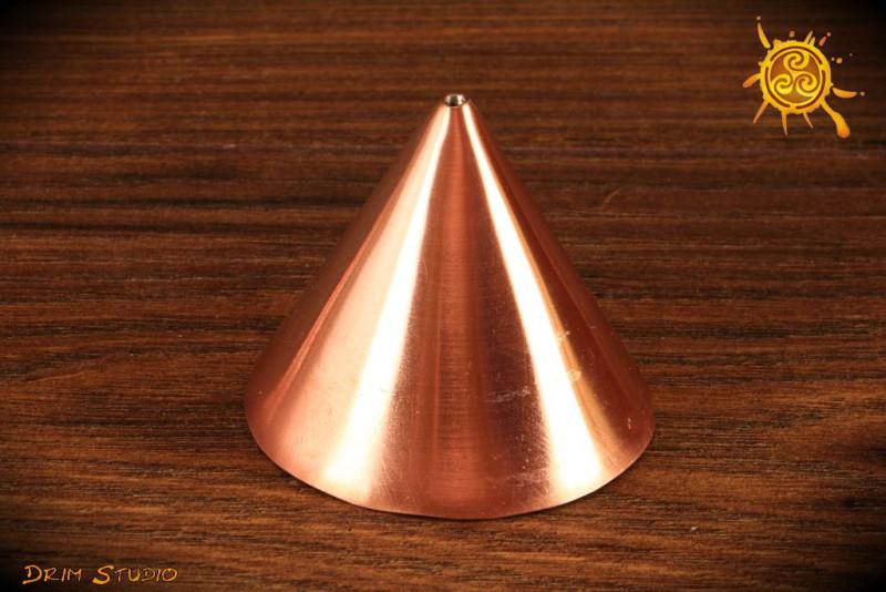 Stożek Cu miedziany 5,5 cm - na poszczególne czakramy, do wyrównywania pracy serca