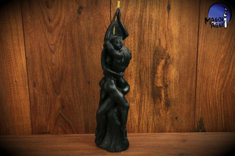 Czarna Świeca Kochanków Adama i Ewy - uwolnienie z negatywnych emocji oraz złych wpływów, oczyszczenie