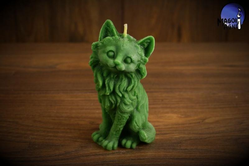 Zielona Świeca Kot - przypływ gotówki, poprawa zdrowia