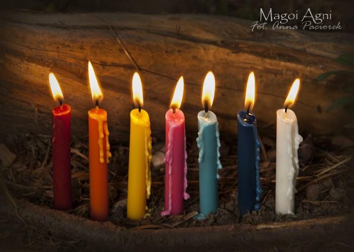 Świece CZAKRALNE 7 kolorów Czakr - 7 świec na czakry, czakroterapia, równoważenie czakr