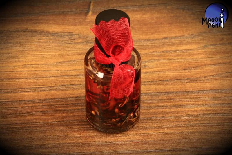 Czerwony Uniwersalny olejek Magoi Agni  do namaszczania świec, talizmanów, kamieni - UNIWERSALNY
