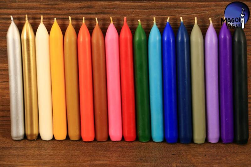 Purpurowa świeca klasyczna - wzmacnia aurę i działanie egzorcyzmów, oczyszcza
