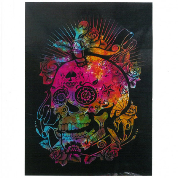 Bawełniana Tkanina Santa Muerte 78x112 cm