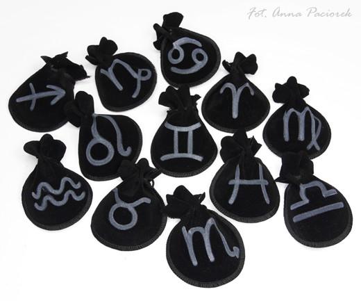 Woreczek amulet talizman ZNAK ZODIAKU KOZIOROŻEC - ochrona, sukces, pieniądze, zdrowie